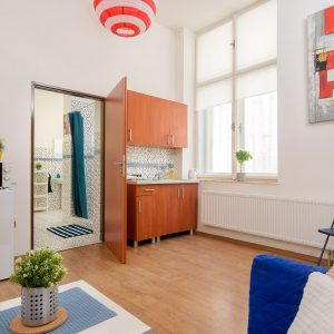 Lampion studio apartment in Prague long term